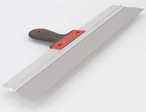 rokkel Flächenspachtel 600mm - rostfreie Edelstahlklinge mit leichter Flexibilität und rutschfestem Griff zum glätten und abziehen von großen Flächen
