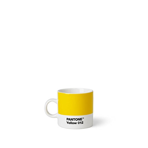 Copenhagen design Pantone Espresso, Small Coffee Cup, fine China (Ceramic), 120 ml, Yellow 012, 6.2 cm