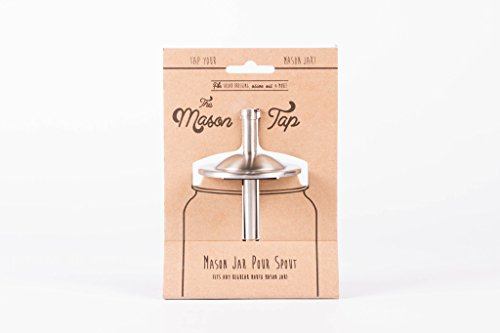 W&P Mason Tap, Pour Spout for Masons Jars, Ready To Pour, Home Essentials, Stainless Steel