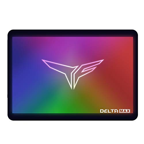 TEAMGROUP T-Force Delta MAX ARGB Addressable RGB 500GB with DRAM 3D NAND TLC 2.5 Inch SATA III Internal Solid State Drive SSD (Read/Write Speed up to 560/510 MB/s) for PC Desktop T253TM500G3C302