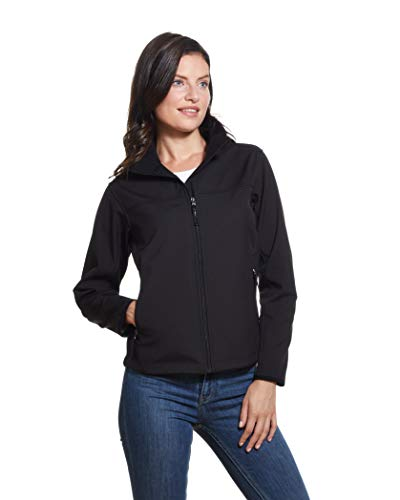 Weatherproof Womens Lightweight Jacket Water and Wind Resistant Soft Shell Jacket, Black, Small