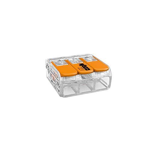 Wago 221 Klemmen 10x 221-413   Kabel Verbinder in der wiederverschließbaren Box - Original WAGO