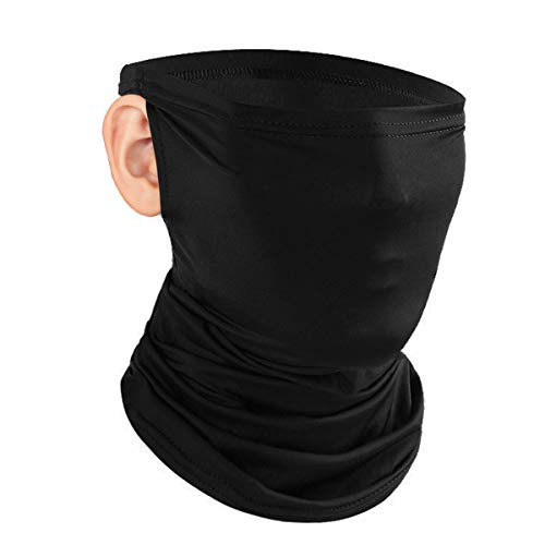 Neck Gaiter Mask (1 pack), UV Protection Cooling Ear Loops Neck Gaiter Face Mask Bandana, Sun Protection Fishing Cycling Cool Neck Gaiter