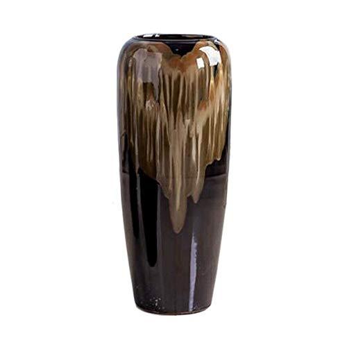 Keramische Bodenvase Europäische Heimdekoration Blue Cornflowers Vorratsflasche geeignet for Wohnzimmer, Hof, Einkaufszentrum, Hochzeitsszene (H50 / 60 / 70cm) (Size : 60cm)