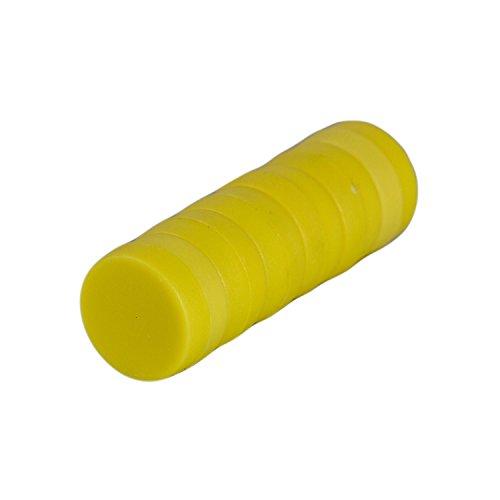 Magnetastico | 6X Starke Neodym Magnete mit Schutzschicht | Farbe Gelb & Größe 12x6 mm | Starke Supermagnete, Büromagnete | Mini-Magnete für Magnettafel, Kühlschrank, Whiteboard & Glasmagnettafel