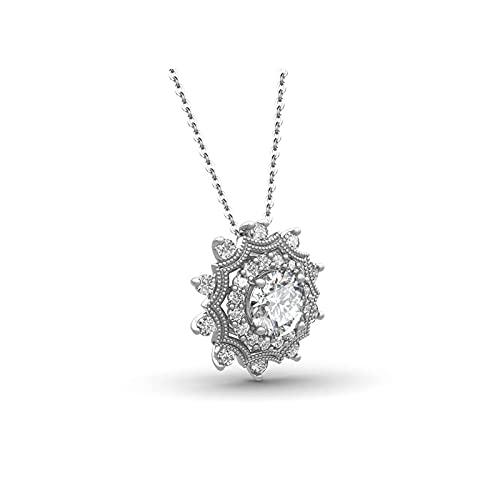 RXDZ Collar Colgante con Color Cadena Collar de Mujer joyería Sol Pendientes Plata 925 Fina joyería Mujer Regalos