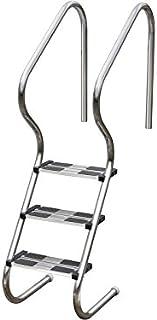 Gre EIE30 - Escalera de Acero para Piscina Enterrada, 183,5 cm