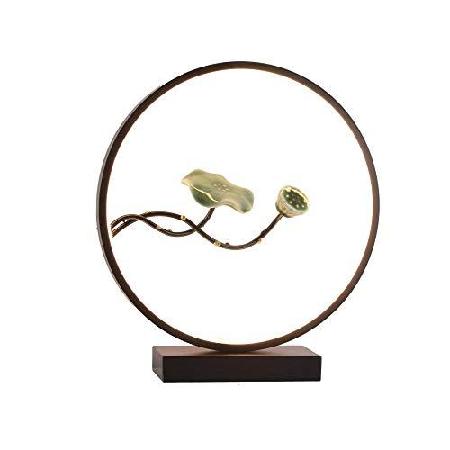 Chino Elegante Lámpara de mesa Creativo Moda Decoracion de Sala Lámpara de escritorio Luz calida Cuidado de ojos Alta Calidad Lámpara de oficina Lampara de lectura/Como se muestra/Una talla