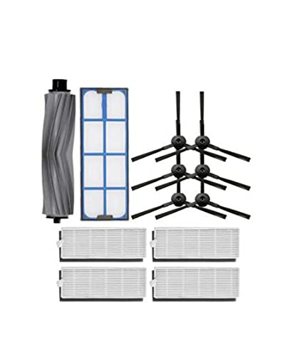 Piezas de Repuesto de Robot Cepillo Principal + Filtro HEPA + Filtro primario + Cepillo Lateral Fit for aspiradora de Robot ILIFE A6 A8 X620 X623