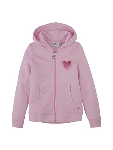 TOM TAILOR Baby-Mädchen Sweatjacke Pullover, Lilac Sachet|Rose, 104/110