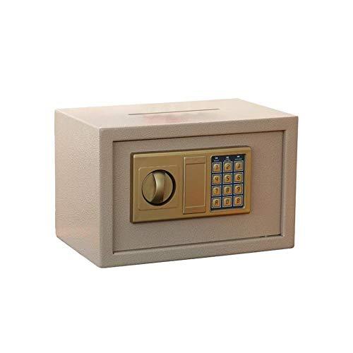GGDJFN Casseforti Cassetta di Sicurezza Domestica, Piccolo, Acciaio Ufficio Antifurto Sicuro Cabinet Cassette di Sicurezza for ID Papers, Documenti A4, Computer Portatili, Gioielli - 31 * 20 * 20cm