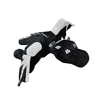 QQCherry Ender Dragon Plush Black Dragon Stuffed Plush Toy Plush Stuffed Toy 15.7 Inch Black Dragon Plush Animal Soft Plush Toy Cute Hug Pillow  Black Dragon