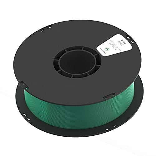 3D Printer Filament, PLA K5T Filament, High Transparency, Transparent Material, 1.75mm, 1kg Spool-Glass green_1.75mm