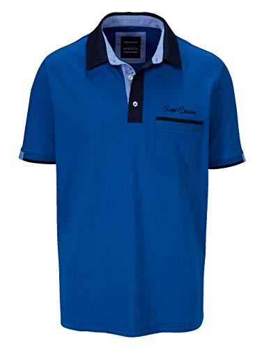 BABISTA Herren Polo-Shirt – Kurzarm-Oberteil aus Reiner Baumwolle, T-Shirt mit Kontrast-farbenem Hemd-Kragen, Polo-Hemd in Gelb, Gr. 48, Royalblau, Gr. 62