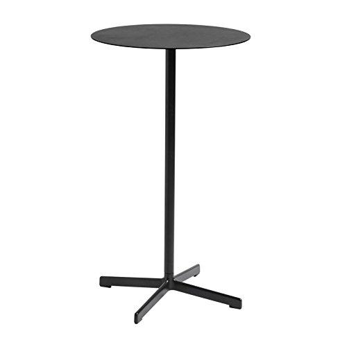 HAY nieuwe tafel hoog Ø 60 cm H 105cm/für Innen- und Außerbereich geeignet Houtskool/gepoedercoat.