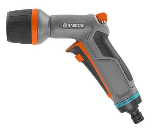 Gardena Comfort ecoPulse Robot cortacésped para Superficies de < 1250m², función, inclinaciones de hasta el 30% sin Hacer Ruido, Negro/Naranja/Turquesa, embalado