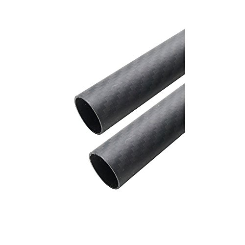 ARRIS 25mm 23mm x 25mm x 500mm 3K Roll Wrapped 100% Carbon Fiber Tube Matt Surface (2 PCS)