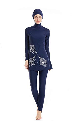 KXCFCYS Modest Muslim Swimwear Islamic Swimsuit Hijab Swimwear Full Coverage Swimwear Muslim Swimming Beachwear Swim Suit …