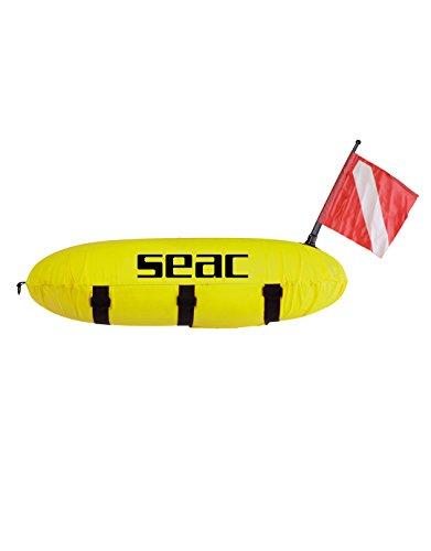 SEAC Master Siluro, Boa Segna Sub con Bandiera e Sagola Unisex Bambini, Giallo, Standard