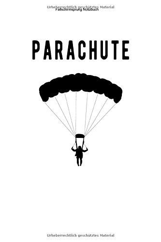 Fallschirmsprung Notizbuch: 100 Seiten | Liniert | Springen Skydive Ausbildung Sprung Geschenk Fallschirmsport Team Adrenalin Tandem Springer Verein