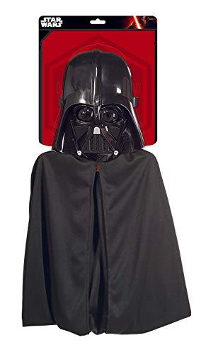 Generique Darth Vader Kinder Kostüm Set schwarz 104/116 (5-6 Jahre)