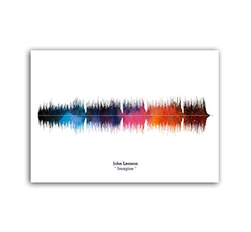 LAB NO 4 John Lennon Imagine Song Soundwave Print Music Lyrics Poster in A1 Size