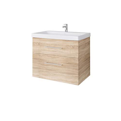 Planetmöbel - Armario para lavabo con espejo (50 cm)