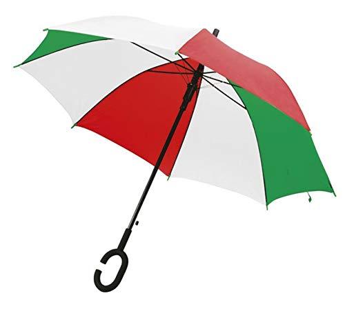 Ten Regenschirm Italienische Flagge mit Griff C cod.EL21056 cm 102x102x88h by Varotto & Co.