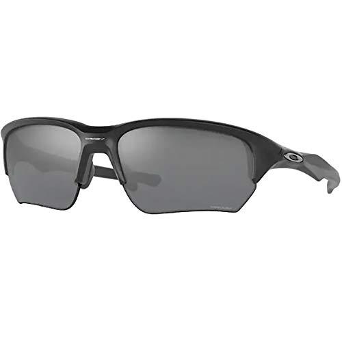 Oakley Men's OO9372 Flak Beta Asian Fit Rectangular Sunglasses, Matte Black/Prizm Black, 65mm