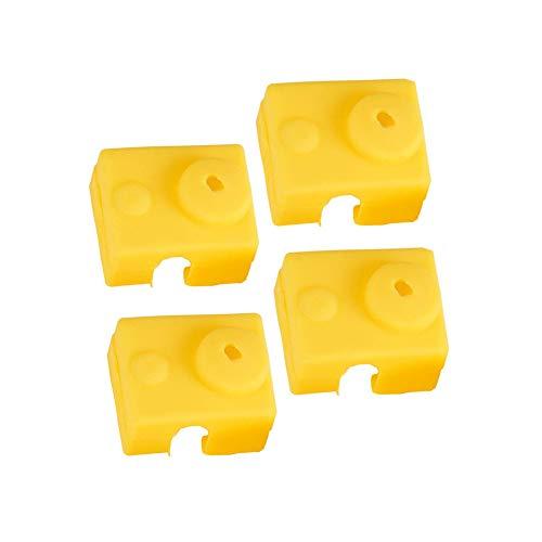 3D Parti e Accessori Silicone Sock Cover per Stampante 3D Coperchio in Silicone Compatibile con E3D V6-4pcs Giallo
