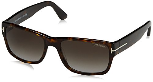 Tom Ford FT0445 52B 56 gafas de sol, Marrón (Avana ScuraFumo Grad), 56.0 para Hombre