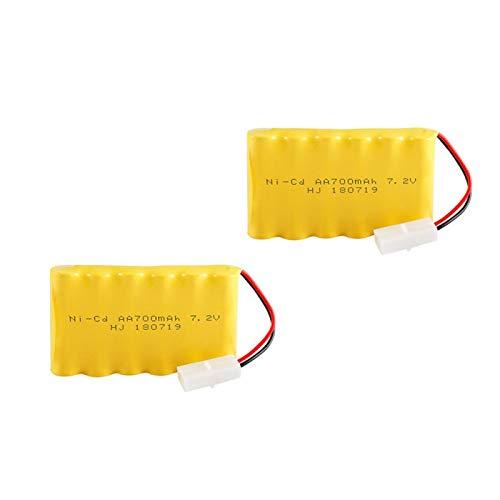RFGTYH Batería Recargable de 7,2 v 700 mah + Cargador para Coche de Juguete RC, Barco, Tren, Robot AA, batería de 7,2 v Blue