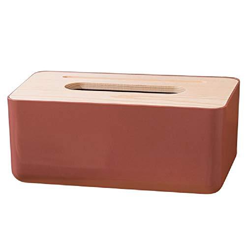 YQZX Hogar Simple Tapa de Madera Caja de Bombeo Sala de Estar Derecho de Escritorio Papel de Bombeo Buje de Tejido Bombeo de plástico Caja de Tejido Aseo,1