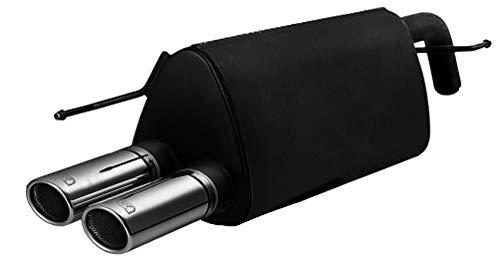 Sportauspuff Auspuff 107-211/70RS | Kompatibel zu Typ 199 + Evo, 2005-2012 | 1.4 (70kw) | 1.4 (57kw) | 1.2 (48kw) | 2x 70mm