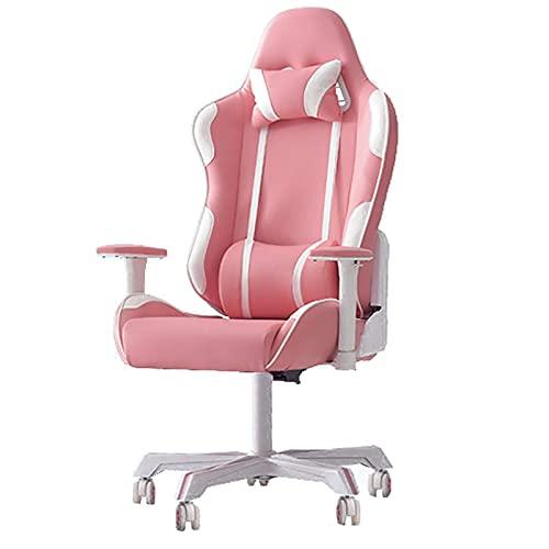 Especial /Simple Tirador reclinable giratorio de deportes electrónicos ajustable de espalda, silla de computadora de la oficina de carreras y silla de escritorio andrgonómicos con almohada lumbar, sil
