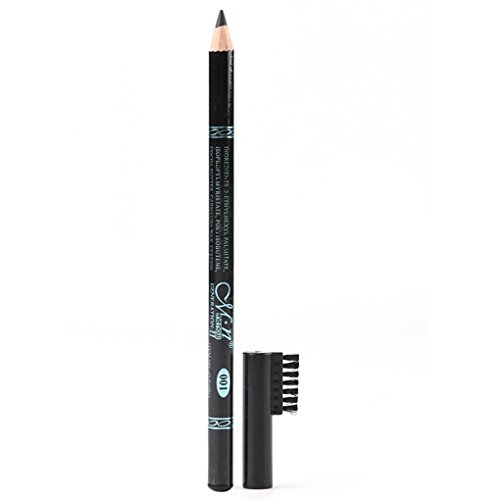 ELENXS Nouveau Menow Pen tête Noire résistant à la Sueur Crayon à Sourcils avec Sourcils Peigne Double Usage Eyeliner Waterproof