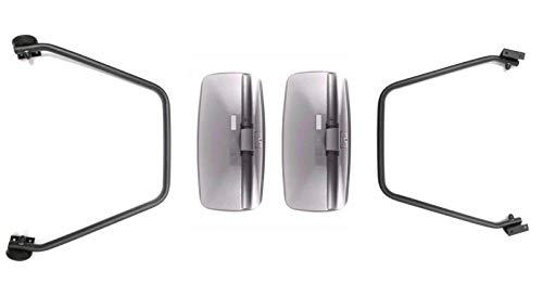2x buitenspiegel achteruitkijkspiegel 390x195 vrachtwagen bus bagger spiegelhouder spiegelarm set