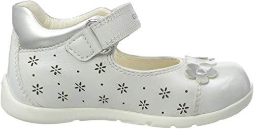 Geox B Kaytan B, Bailarinas Bebés, Blanco White/Silver