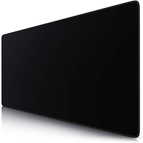 TITANWOLF - Alfombrilla de Ratón de Gran Tamaño 900 x 400 mm - Mouse Pad Gaming XXL – Total Black - Precisión Velocidad en Juegos - Antideslizante - Superficie Tejido - para Teclado de PC y Portátil