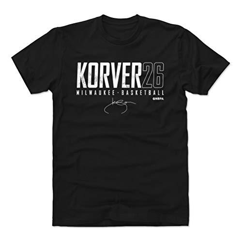 500 LEVEL Kyle Korver Shirt (Cotton, Large, Black) - Milwaukee Men's Apparel - Kyle Korver Milwaukee Elite WHT