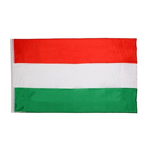 Hellery Bandera Nacional 5FT X 3FT Competición Deportiva De Fútbol 15 Banderas De Países - Hungría, Aprox. 90 x 150 cm / 3 x 5 pies