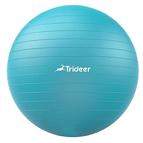 Trideer Dicker Gymnastikball, Anti-Burst Pilates Ball, 45-85 cm sitzball büro Robuster 700kg Maximalbelastbarkeit, for Balance, Yoga als Fitness Kleingeräte und Balance Stuhl im Gym-Home-Büro