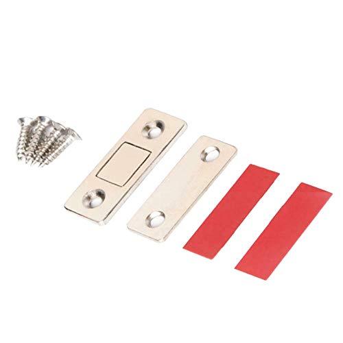 LOPU Lochfreier magnetischer Türschließer, ultradünne unsichtbare magnetische Türstopper, elektromagnetische Türschnalle aus Edelstahl für den Kleiderschrank mit Schiebetürverschluss 10St