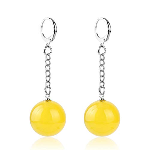 ZIXIYAWEI Pendientes para Mujer Dragon Z Drop Earrings Dragonball Potara Earrings Zamasu Earrings For Women Men Jewelry-Yellow