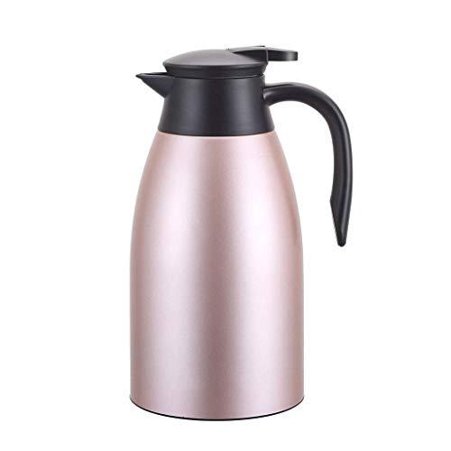 Taza de agua con aislamiento, acero inoxidable, gr Taza de agua portátil, matraz térmico, matraz de termo de vacío de doble pared, jarra de café térmico, acero inoxidable 304 C. ( Color : Pink )