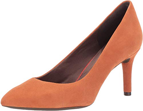 Rockport Women's TM75MMPTH Plain Pump, Persimmon, 5.5 M covid 19 (Orange Leather Footwear coronavirus)