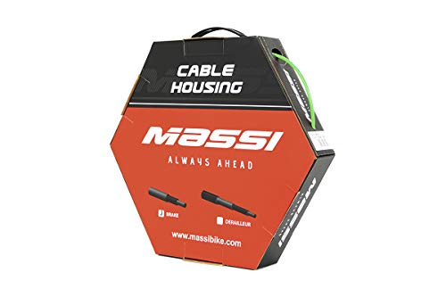 Massi Funda de Cable de Freno para Bicicleta, Adultos Unisex, Verde
