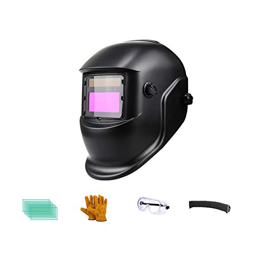 DUTUI Máscara De Seguridad para Soldadores Eléctricos, Cara Anti-Horneado En La Cabeza Montada En La Cabeza, Soldadura por Oscurecimiento Automático, Gorra Ligera Y Transpirable