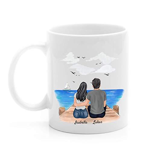 Uniheart Bestes Pärchen - Personalisierte Tasse (Mann & Frau)