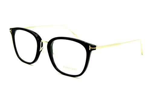 Tom Ford メガネフレーム TF 5570-K 001 53-21-145 ブラックゴールド イタリア製